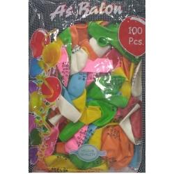 doğum günü balon karışık baskılı 100 ad