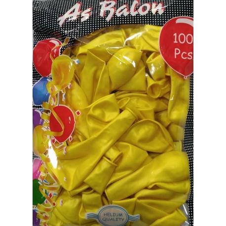 metalik balon sarı