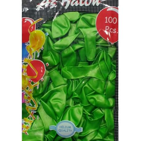 metalik yeşil balon