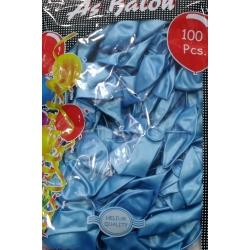 metalik açık mavi balon