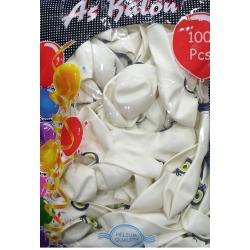 toptan beyaz nazar balon 100 lü