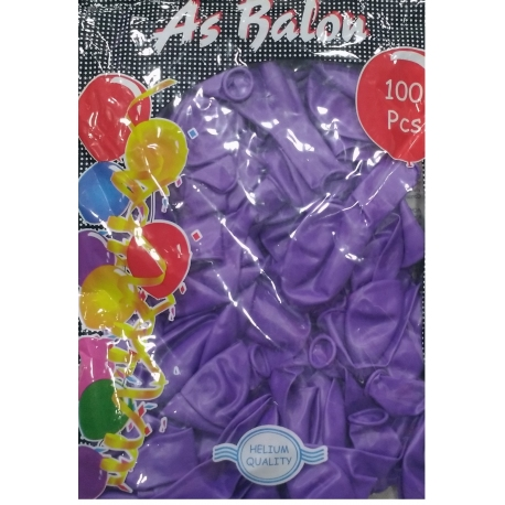 toptan balon lila as iç mekan 100 lü