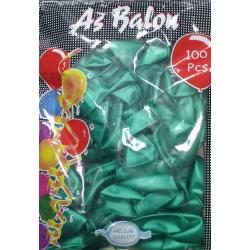 toptan metalik balon koyu yeşil 100 lü