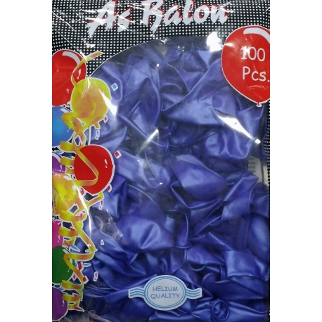 toptan balon metalik koyu mavi