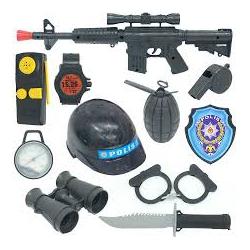 toptan kasklı polis set büyük item122