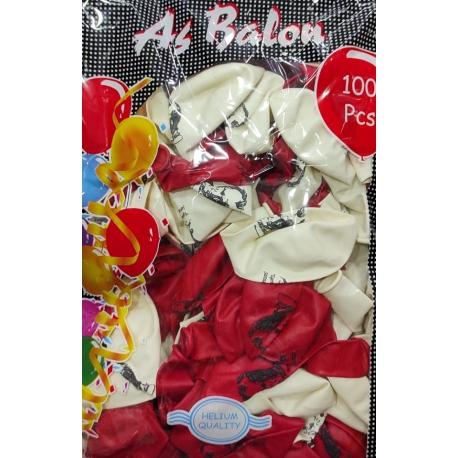 toptan baskılı balon atatürklü 100 lü