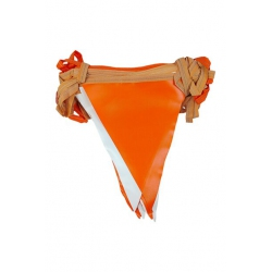 toptan branda üçgen flama turuncu beyaz