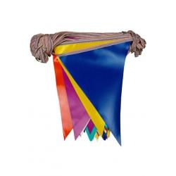 branda üçgen flama karışık renkli