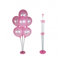 toptan balon standı 7 li pembe renk
