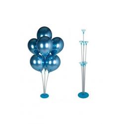 toptan balon standı mavi renk 7 kafalı